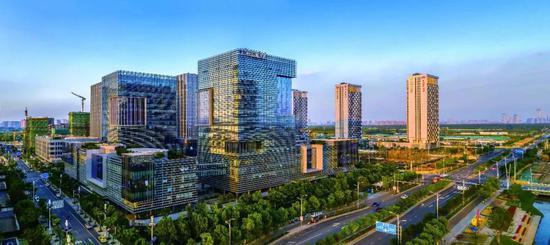 江北新区产业技术研创园。南京日报记者 崔晓 摄