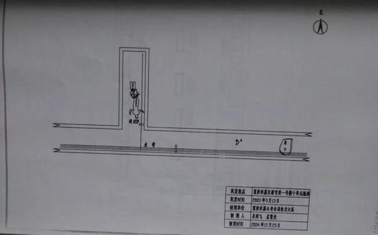 发现张丽丽尸体地点的平面图