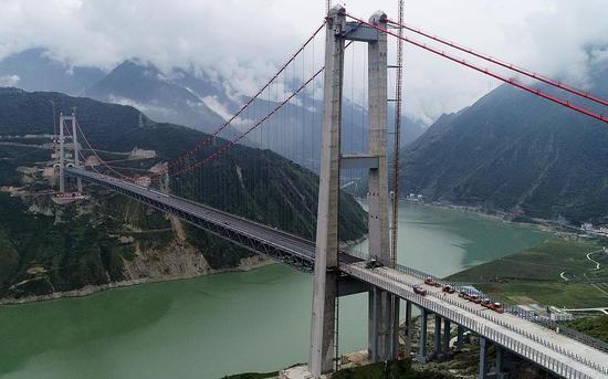 泸定大渡河大桥 图源:视觉中国