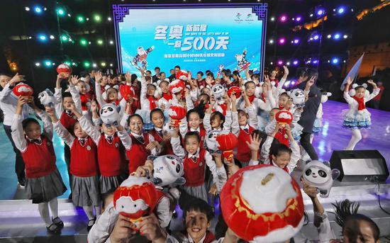 2020年9月20日,北京冬奥组委在北京市延庆区八达岭长城举办了冬奥会倒计时500天长城文化活动。