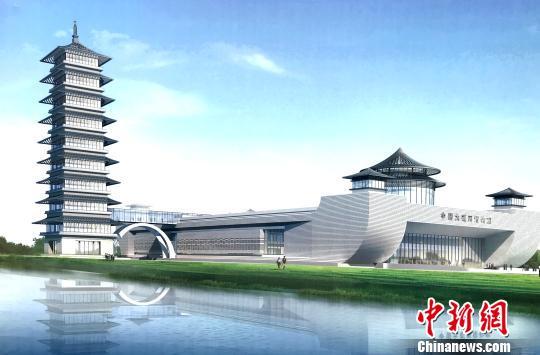 图为中国大运河博物馆设计规划图,尽显唐代风韵。 崔佳明 摄