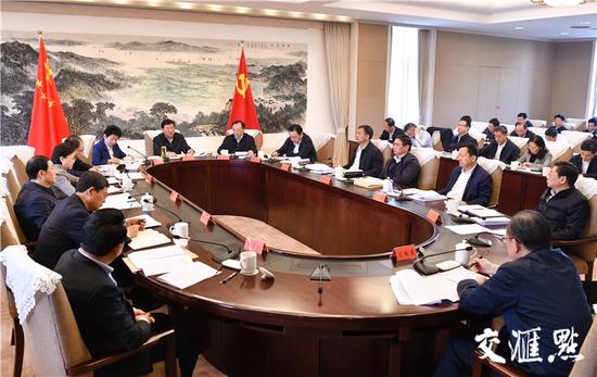 4月8日,省委常委会召开会议。交汇点记者肖勇摄