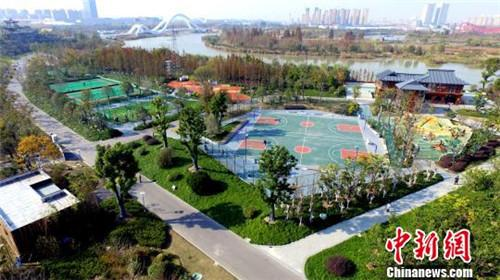 图为花都汇生态公园。 崔佳明摄