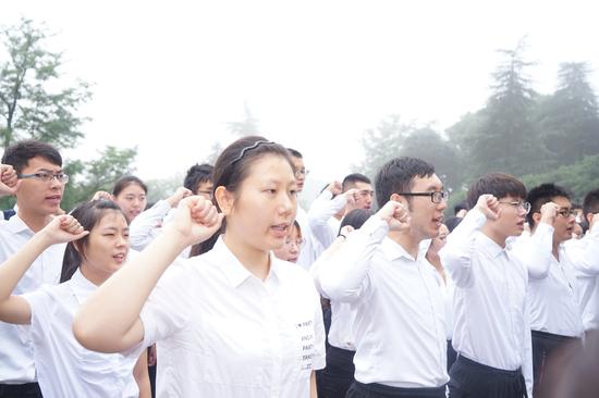 高校大学生代表征兵宣誓
