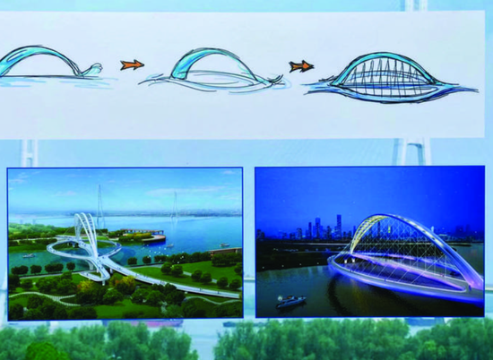 江豚形状步行桥示意图