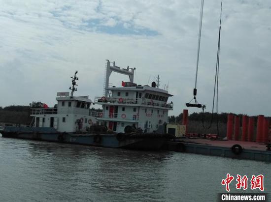 常泰过江大桥现场施工全面开启