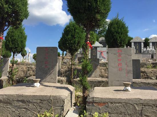 目前位于青龙山公墓中的新庄中国兵墓。
