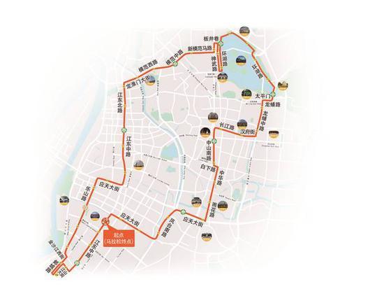2020南京马拉松比赛线路图