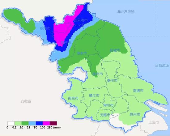 11日08时-12日08时雨量预报图