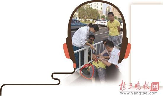 淮安女孩骑电动车听歌发生碰擦 耳机线割喉险送命