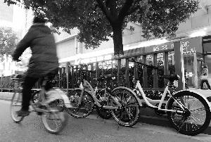 南京街头随处可见各式各样的共享单车 现代快报/ZAKER南京记者 徐洋 摄