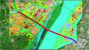 南京长江五桥规划示意图公建中心供图