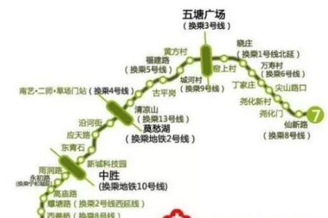 """""""换乘王""""南京地铁7号线获批 设27座车站"""