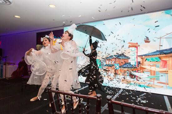 展示南京历史文化的多媒体演出 摄影:陈向俞