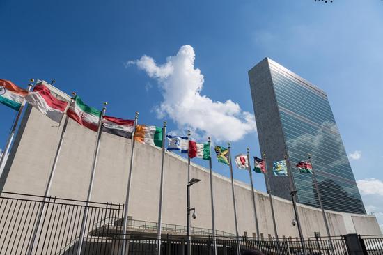 """2017年世界知名城市""""南京周""""纽约站在联合国总部大厦拉开帷幕 摄影:陈向俞"""