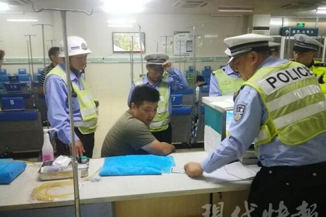 男子醉驾医院血检时逃跑 结果喝多找不到大门
