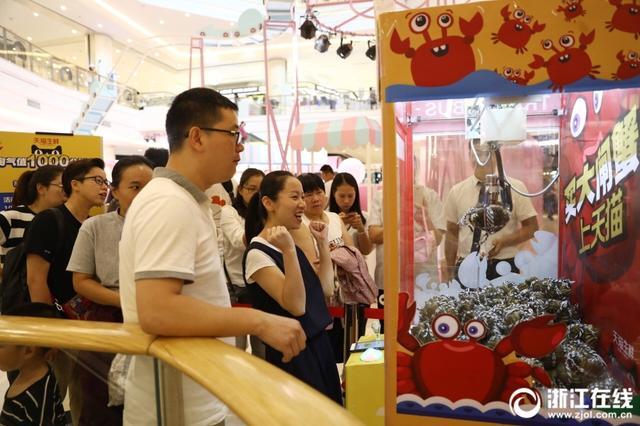 还有这种操作?杭州惊现大闸蟹夹娃娃机