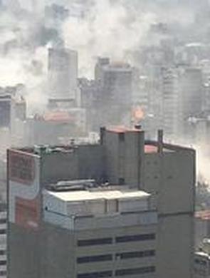 墨西哥地震现场城市建筑大量倒塌