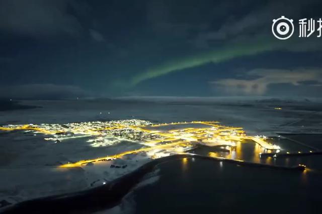 冰岛北极光 美出山水画的意境
