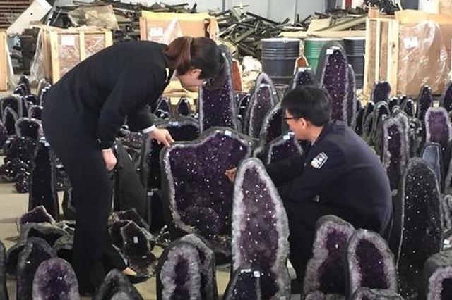 南京海关连破26起水晶走私案 案值近2.7亿元