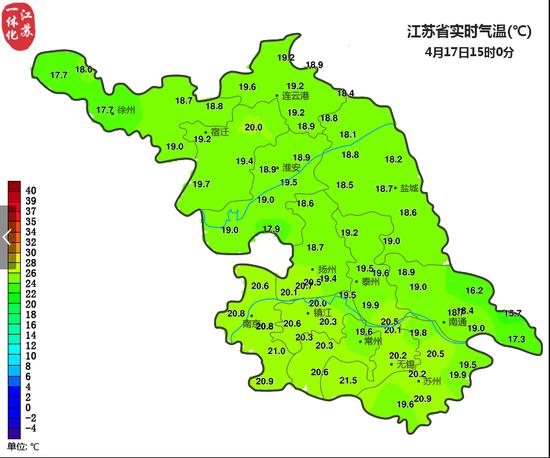 注意!受冷空气影响 江苏今晨气温低至4℃