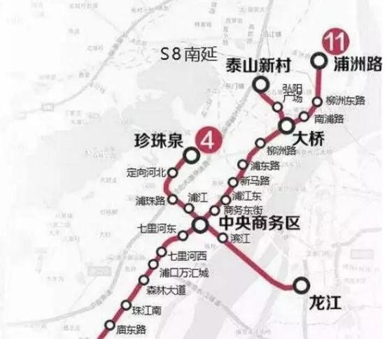 """南京地铁11号线示意图图片来源""""@南京地铁"""""""