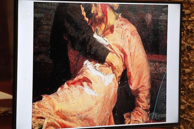 男子冲进展馆损毁列宾名画 只因认为画作与史实不符