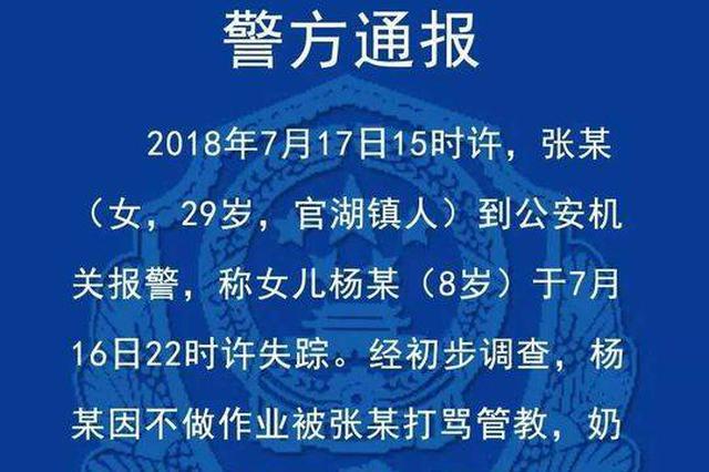 江苏8岁女童疑遭父母虐打 警方:孩子已由奶奶代管