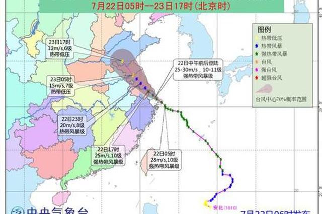 黄色预警!台风安比今日中午将登陆南通启东一带