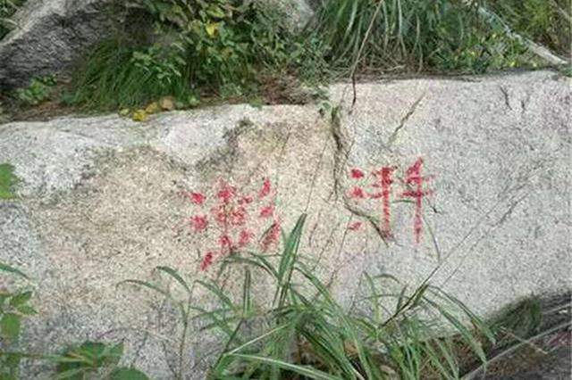在青岛崂山景区涂鸦的当事者已投案 案件正在调查