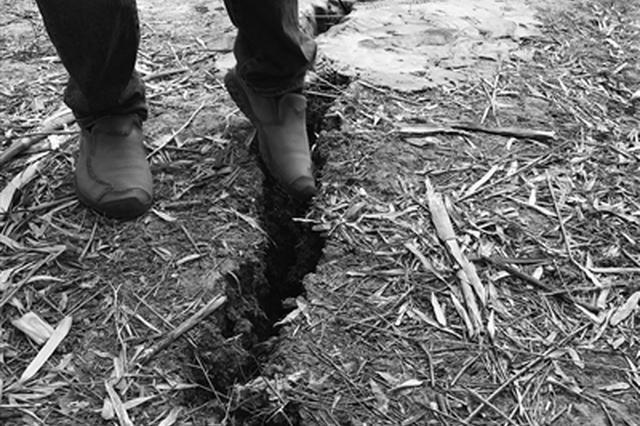 地面裂缝能伸进脚 江北一小区内十几户居民胆战心惊