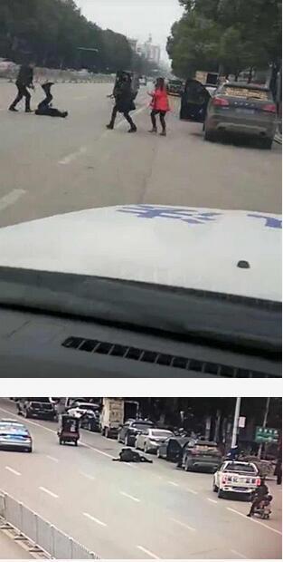 男子坐执法车内拍凶案视频被指冷漠 纪委介入调查