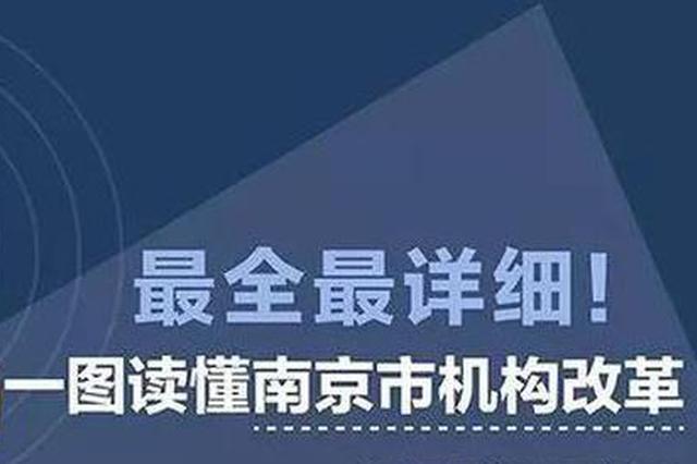 一图读懂!南京机构改革这么改 共设党政部门54个