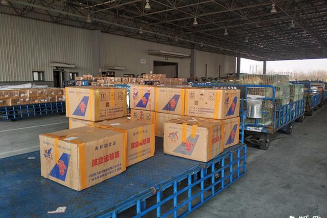 """牛羊肉、鲜花、海鲜……每天数百吨年货打着""""飞的""""来南京"""