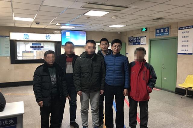 下雪天 南京地铁里很暖