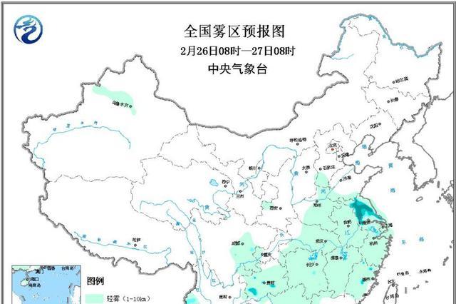华北中南部黄淮汾渭等地有中至重度霾 江苏等地有大雾