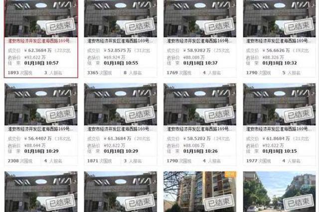 高淳法院查封一公司37套房产 已拍卖获得2千余万