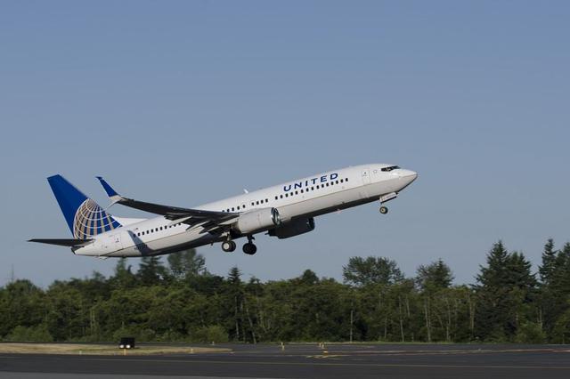 美联航一架载180人飞机因引擎问题迫降 数人受轻伤
