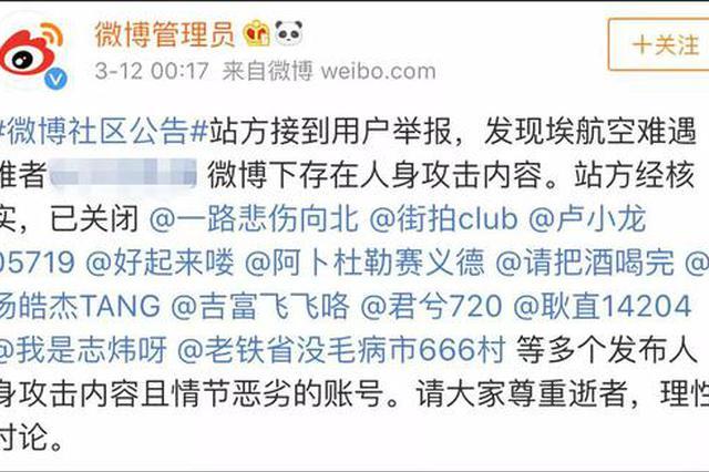 愤怒!埃航遇难中国女大学生遭人身攻击!处罚来了