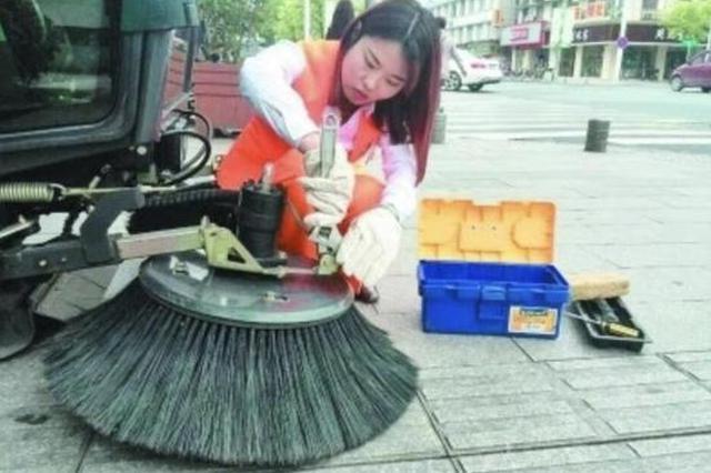 南京女子环卫队全是大学生 招聘时要求学历形象