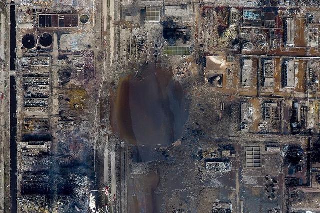"""盐城:响水""""3·21""""爆炸事故形成积水坑内废水已转移"""
