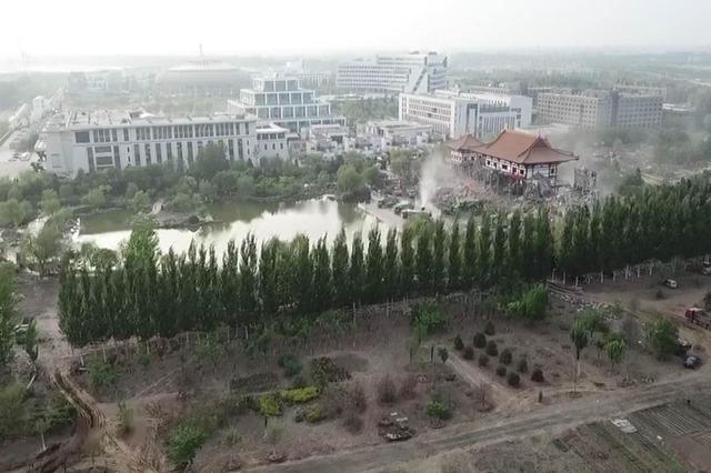 """官方通报:天狮集团已自行拆除""""华堂""""建筑"""