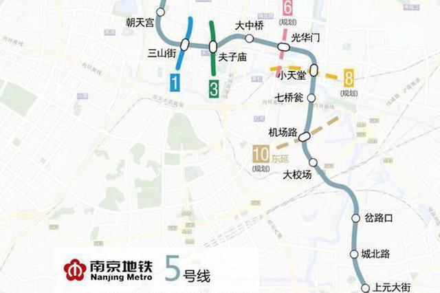 南京地铁5号线最新进展来了 7座车站已完成围护结构