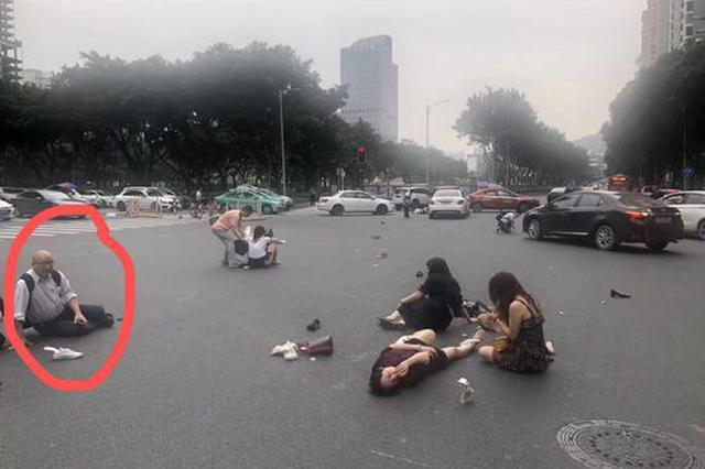 广州交通事故中香港公职人员被指碰瓷 同事:真伤了