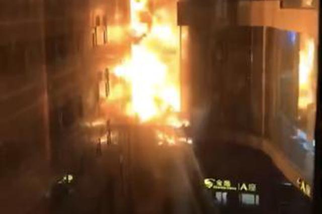 南京新街口金鹰火灾无人员伤亡 户外施工引发火情