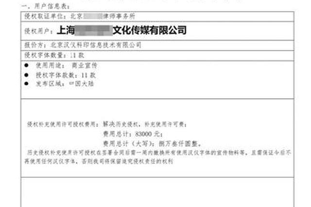 """下载使用免费字体被要求付费 用户疑被汉仪""""钓鱼"""""""
