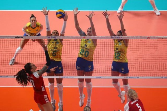 2019世界女排联赛总决赛小组赛:巴西队胜波兰队