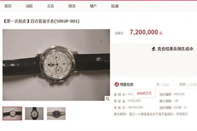 贪官手表起拍价720万元 近5万人围观