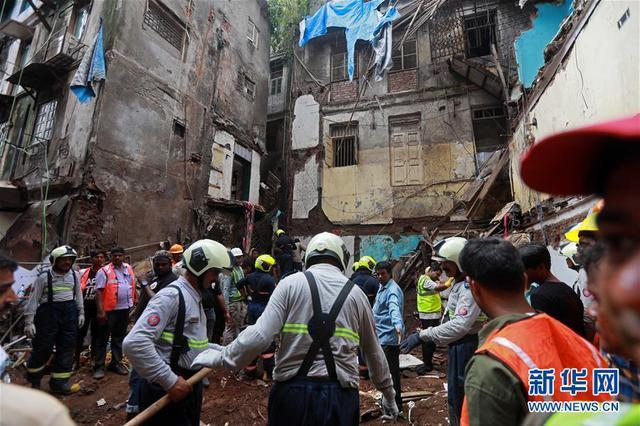 印度孟买楼房坍塌事故遇难人数升至14人