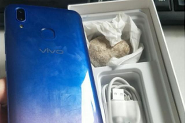 宿迁男子花千元在淘宝买手机 顺丰送来模型和一块石头